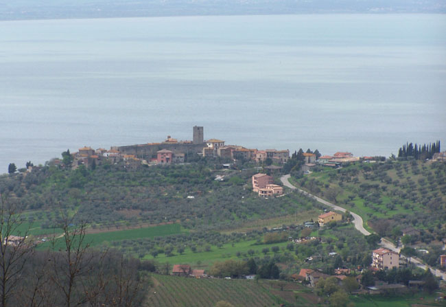Lake Trasimeno view